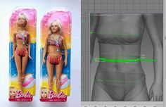 """Research artist Nickolay Lamm has decided to restructure Barbie's traditional, ridiculous proportions and create a """"normal"""" Barbie, he told Personalize, """"I've read research and opinions suggesting that Barbie may or may not negatively affect young girls' body image. This means that there's a chance that Barbie harms young girls. If normal Barbie looks good, why not remove all doubt?"""""""