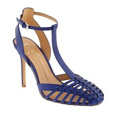 Banana Republic Womens Vienna Heeled Sandal ($120) ❤ liked on Polyvore featuring shoes, sandals, neon cobalt, leather shoes, metallic heel sandals, neon sandals, banana republic sandals and banana republic shoes
