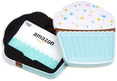 Amazon $50 Gift Card in a Birthday Cupcake Tin (Birthday Cupcake Card Design): Gift Cards