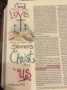 Romans 5:8--God shows his love