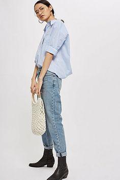 da3780967fe Womens Bleach Hayden Boyfriend Jeans - Bleach Stone