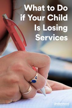 What to do when your child loses services