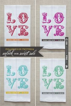 custom tea towels | CHECK OUT MORE IDEAS AT WEDDINGPINS.NET | #weddingfavors
