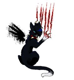 Scourge: I love , love , love this cat! This is one thing I hate about him is he abanded his littermates when they where weak. I do like about him is he is strong and awesome! Warrior Cats Scourge, Dog Teeth, Things To Come, Batman, Superhero, My Love, Awesome, Dogs, Hate