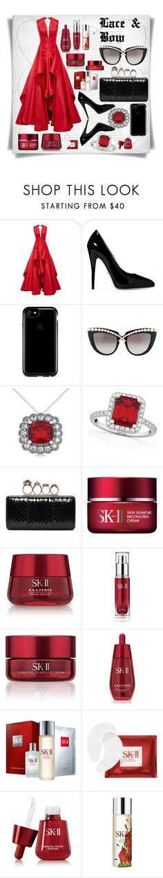 """""""Lace and Bow"""" by imbeauty ❤ liked on Polyvore featuring Zac Posen, Gucci, Speck, Anna-Karin Karlsson, Allurez, Alexander McQueen, SK-II and laceandbow"""