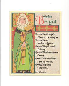prayers to brigid - Yahoo Image Search Results Catholic Saints, Patron Saints, Celtic Prayer, Irish Quotes, Irish Sayings, St Bridget, School Murals, Beautiful Prayers, Irish Blessing