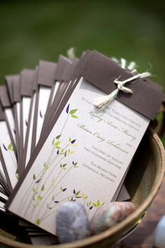 Farm Wedding Programs--Featured on The Knot by mewpaperarts, via Flickr
