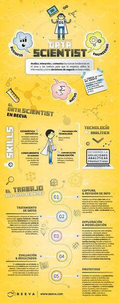 infografía perfil trabajo data scientist