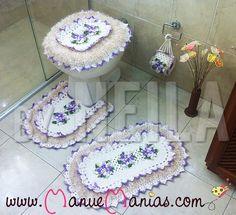 Jogo de Banheiro Decore Lilás
