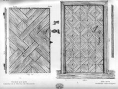 Latvian doors, early 20th century. Vilani region. Via Zagarins.net.