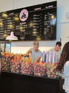 Joe the Juice is a chain of stylish cafes that sell juice, sandwiches, and coffee; it began in Denmark and has now spread to other countries.: