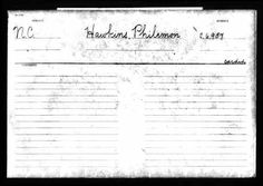 Philemon Hawkins, III discovered in Ancestry.com Revolutionary War Pension