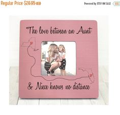 Mothers Day gift Aunt Niece Auntie Gift Personalized Picture Frame Gift Custom…