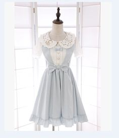 Japanese kawaii bowknot vest dress