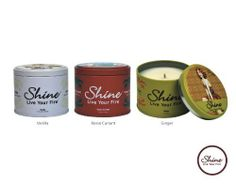 Shine Candles Soy Scented Candles Winter Makes Scents Trio Vanilla Rosso Currant Ginger 6.2oz Each) by Shine Candles. $44.95. Earth friendly ,responsibly made and packaged in the USA. Long lasting burn time of 40 hours. Finest Soy Coconut Plum blend crafted to ultimetly emit the 12% essence, born of the highest quality fragrance available. Custom collectible tin, delightfuly designed in retro motif. Refreshing,impowering winter,holiday scents. Celebrate the sense o...