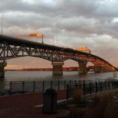Coleman Bridge linking Yorktown to Gloucester VA