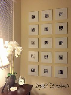Ivy and Elephants: Pretty as a Picture--IKEA frame hack. Ikea Picture Frame, White Picture Frames, Picture Wall, Ikea Mirror, Diy Mirror, Small Living Rooms, Living Room Decor, Dining Room, Marco Ikea