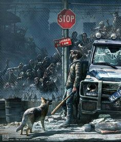 Do you think you would be able to survive a zombie apocalypse? ⚠️ ° ° Art b Zombie Kunst, Arte Zombie, Zombie Art, Games Zombie, Apocalypse Aesthetic, Apocalypse Art, Science Fiction, Arte Horror, Horror Art