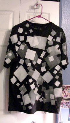 Squares galore. Definitely not your average clothing