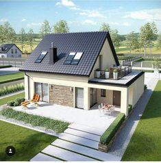 Ideas For Bungalow Remodel Exterior Renovation Small House Design, Modern House Design, Model House Plan, House Plans, Attic Remodel, Home Living, Home Fashion, Home Interior, Exterior Design