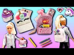 017d618ac51a Barbie Doll Miniature School Supplies - Unicorn Backpack