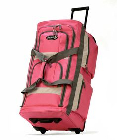 Take a look at this Pink 26'' Wheeled Duffel by Olympia on #zulily today!