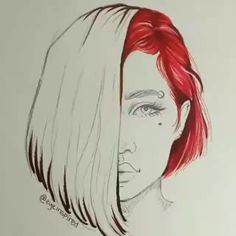 Girly Drawings, Dark Art Drawings, Anime Drawings Sketches, Art Drawings Sketches Simple, Pencil Art Drawings, Colorful Drawings, Cartoon Drawings, Animal Drawings, Watercolor Portraits