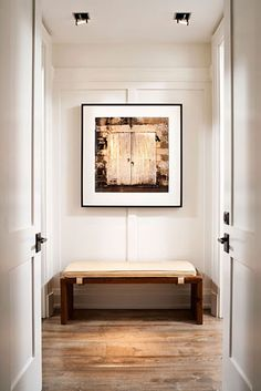 The official website of Powell & Bonnell: Interior Design, Furniture, Lighting and Textiles Interior Design Portfolios, Luxury Interior Design, Interior Decorating, Bedroom Retreat, Master Bedroom, Entry Hallway, Entry Bench, Architect Design, Modern Luxury