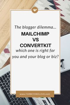 When it comes to email marketing and newsletters bloggers are not without options. There are dozens of platforms on the market and each one has its pros and cons. I've tried a lot of them and today I want to talk about MailChimp vs ConvertKit!