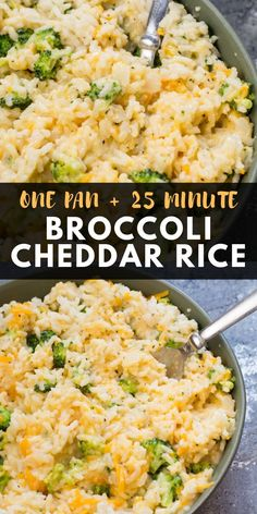 This creamy One Pan Broccoli Cheddar Rice is ready in under 30 minutes! The perfect easy side dish or a great gluten free meatless meal! The post Easy Broccoli Cheddar Rice appeared first on Tasty Recipes. Rice Side Dishes, Side Dishes Easy, Side Dish Recipes, Food Dishes, Chicken Side Dishes, Broccoli Side Dishes, Gluten Free Sides Dishes, Sides With Chicken, White Rice Dishes
