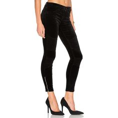 7 For All Mankind b(air) The Ankle Skinny Zip Jeans in Black ($199 ...