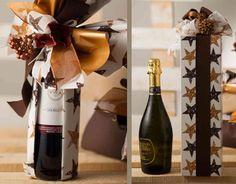 Come trasformare una bottiglia di vino in un regalo di natale?