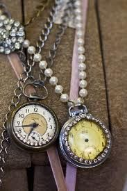 These pocket watch necklaces are fabulous!  Vintage layers