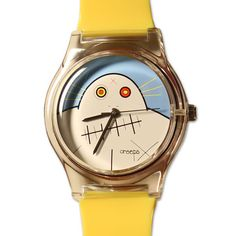 Introducing the second watch of the Creeps series... Grampa!  The watch face features Grampa and sits on a yellow wristband.  The underside of the watch showcases the Creeps logo.  This is a limited edition item, get it before they're gone forever.