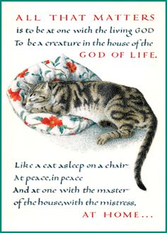 All that matters is to be at one with the living God Angel Illustration, Fantasy Illustration, Cat Cards, Greeting Cards, Tree Quotes, Cat Info, Like A Cat, All That Matters, Illuminated Letters