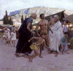 Pheidippides Runs First Marathon To Bring News Of Greek Victory Over Persia - Tom Lovell