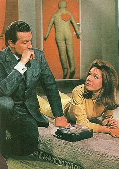Patrick Macnee as Major John Steed, and Diana Rigg as Mrs Emma Peel, in 'The Avengers' episode 'From Venus with Love'