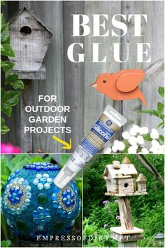 Make your garden projects last with an adhesive that works in all seasons. This glue works for wood glass metal and more. Make your garden projects last with an adhesive that works in all seasons. This glue works for wood glass metal and more. Diy Garden Projects, Garden Crafts, Art Projects, Diy Crafts, Garden Ideas, Metal Projects, Paper Crafts, Yard Art Crafts, Garden Inspiration