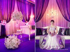 pretty purple pink decor  sangat rare! exclusive sangat. rambang mata tengok design pelamin =D