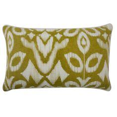 Thomas Paul // Ochre Ikat Throw Pillow - 12 x 20