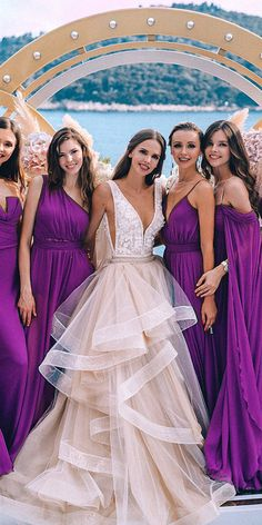 2020 Bridesmaid Dresses Ever Pretty Elegant Cheap Wedding Dresses Online Camo Wedding Dress Sequin And Tulle Bridesmaid Dress Modest Wedding Gowns, Cheap Wedding Dresses Online, Wedding Gowns With Sleeves, Wedding Dress Styles, Lavender Bridesmaid Dresses, Bridesmaids, Look 2018, Marie, Chiffon