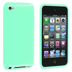 iPod Touch 4th Generation Case, TechSpec(TM) Mint Green Solid TPU Rubber Skin Case Cover for Apple iPod Touch 4th Generation TechSpec http://www.amazon.com/dp/B00W68NUHO/ref=cm_sw_r_pi_dp_3atTwb051967B