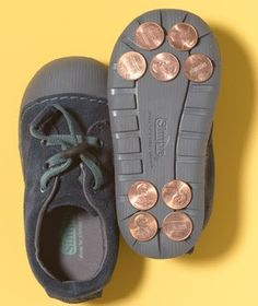 home made tap shoes for the little ones. LMBO!