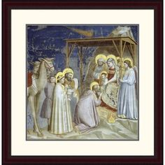 "Global Gallery 'Adoration of the Magi' by Giotto Framed Painting Print Size: 30"" H x 29.36"" W x 1.5"" D"