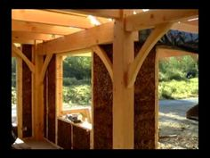 CARL HAYS NATURAL HOUSE, part 1 - YouTube, beautiful timber frame home built with straw clay insulation and earthen plasters