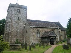 St Peter's Church, Ardingly - view from the southwest corner of the churchyard. It The was built between 1325 and 1340 with a number of later additions.