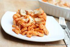 Nudelauflauf mit Hähnchenbrust und Mozzarella-Ciabatte-Kruste