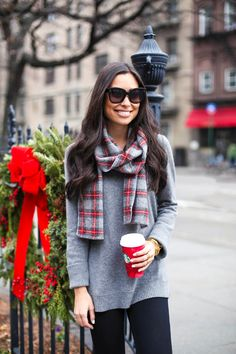 Happy December - Faribault scarf // Cynthia Rowley sweater Levi's jeans // Rag & Bone booties Monday, December 1, 2014