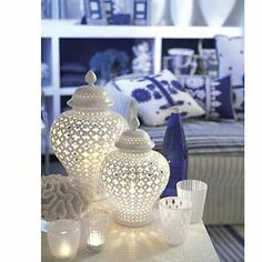 Seaside Style: Ginger Jar Jamboree   -- this is what I thought for the shelving in the master bath.