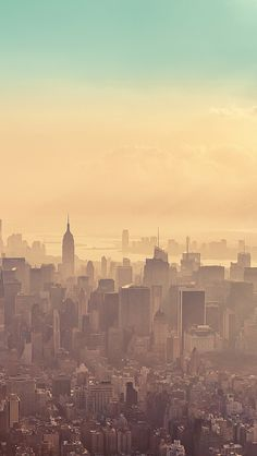 Beautiful New York City Sunrise Haze #iPhone 5 #Wallpaper